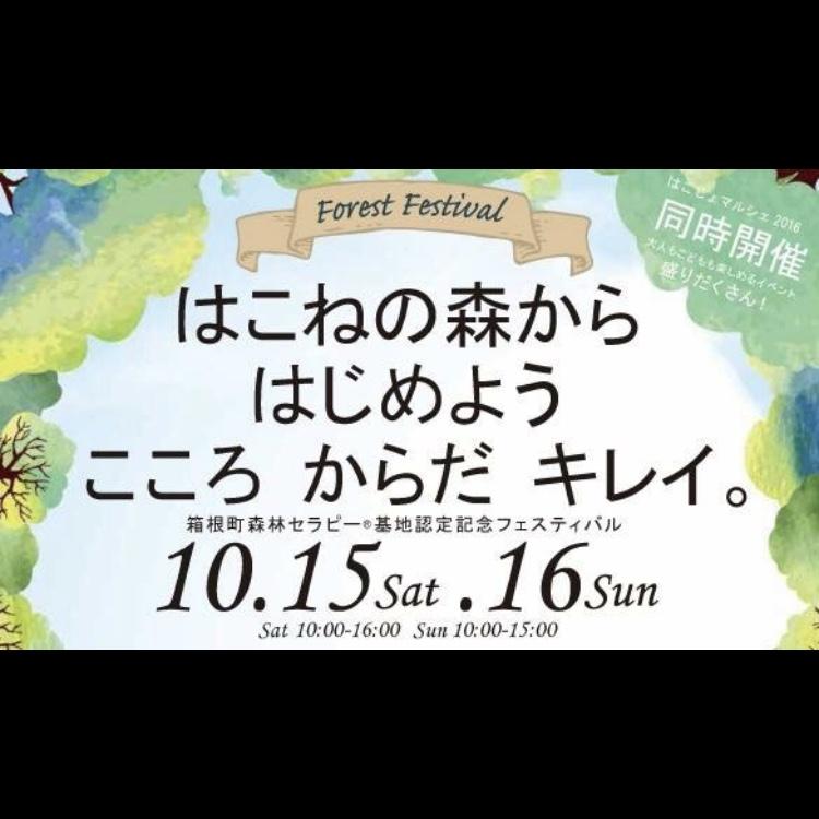 「箱根町森林セラピー基地 認定記念フェスティバル」(神奈川県/箱根の森)にて生演奏ヨガ